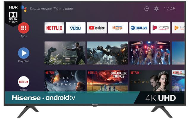 "4K UHD Hisense Android Smart TV (64.5"" diag)"