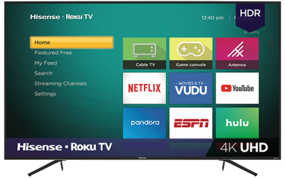 4K UHD Hisense Roku TV with HDR (2019)