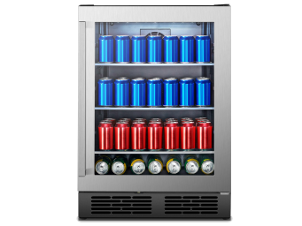140 Can Freestanding Stainless Steel Beverage Cooler