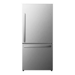 Hisense 17.1-Cu Ft Refrigerator with Ice Maker - Fingerprint-Resistant Stainless Steel