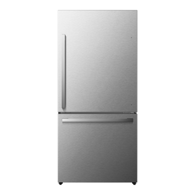 Hisense 17.1-Cu Ft Refrigerator with Ice Maker - Fingerprint-Resistant Stainless Steel