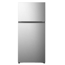 Hisense 18 cu Ft Top Mount Freezer Refrigerator Silver With Ice Maker Ready