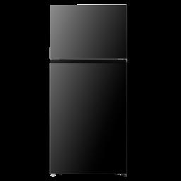 Hisense 18 cu Ft Top Mount Freezer Refrigerator Black With Ice Maker Ready