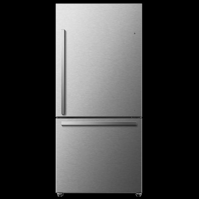 Hisense 20.9-cu ft Bottom-Freezer Refrigerator with Ice Maker (Stainless Steel) ENERGY STAR