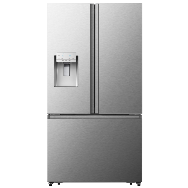 Hisense 25.4-cu ft French Door Refrigerator with Ice Maker (Stainless Steel) ENERGY STAR