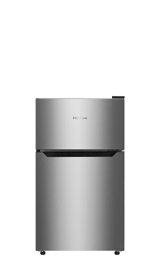 3.2 Cu. Ft. Double-Door Compact Refrigerator (Stainless Steel)